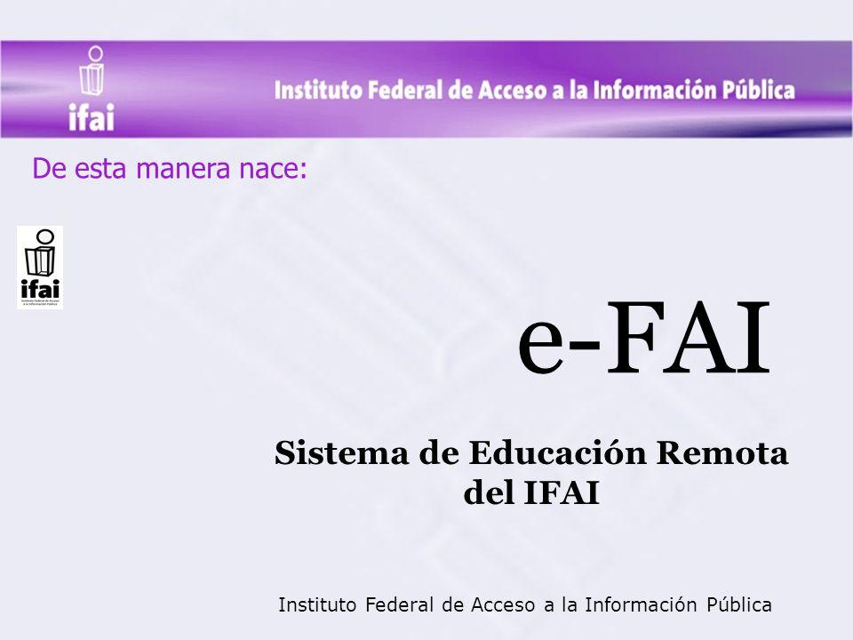 Sistema de Educación Remota del IFAI