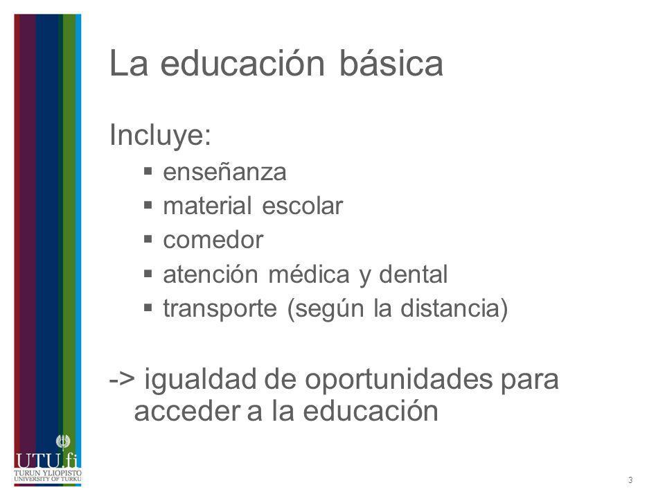 La educación básica Incluye: