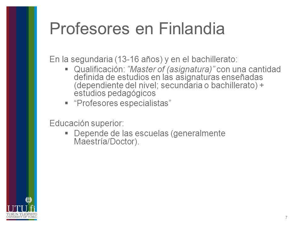 Profesores en Finlandia