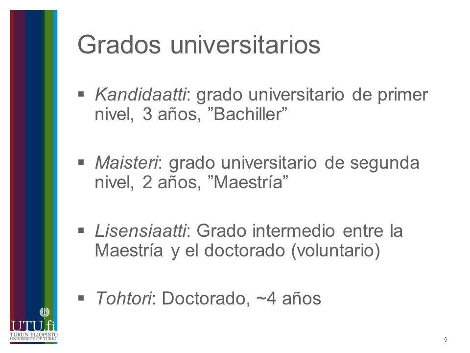 Grados universitarios