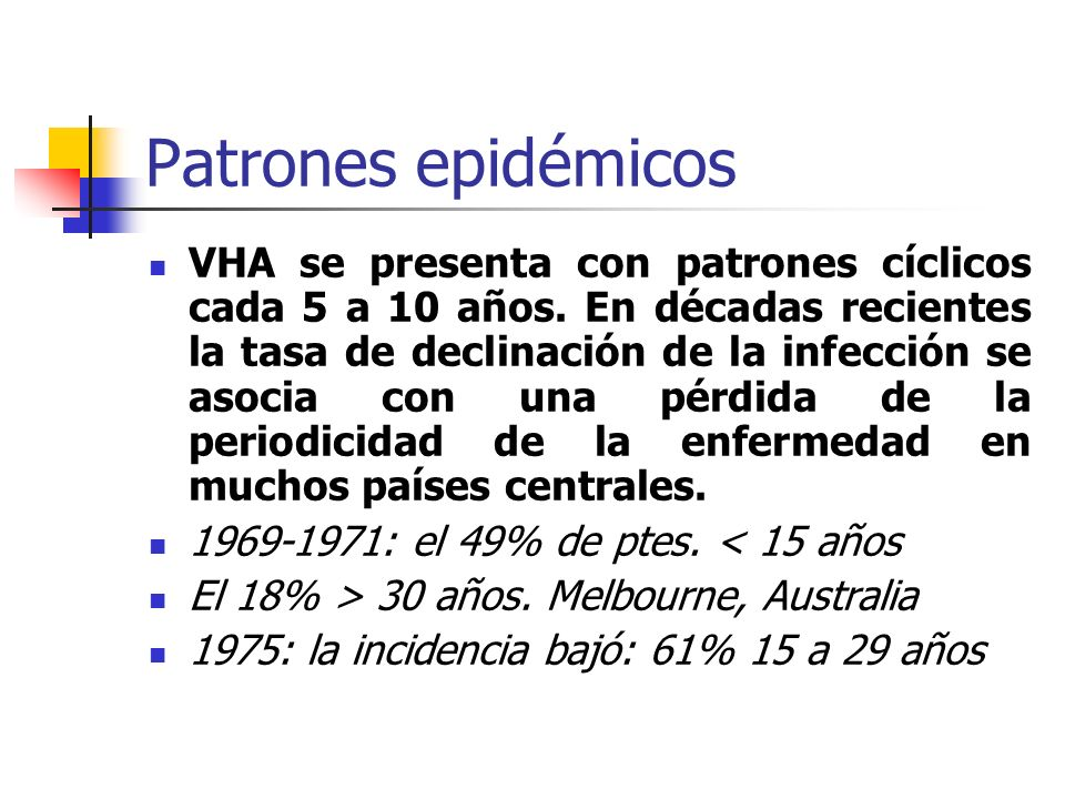 Patrones epidémicos