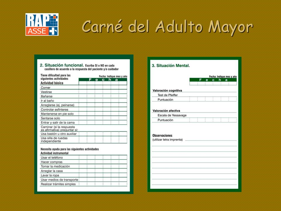 Carné del Adulto Mayor
