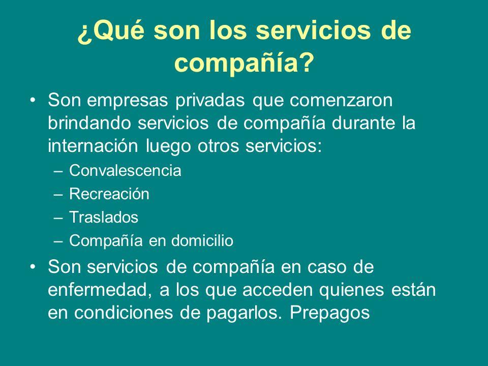 ¿Qué son los servicios de compañía