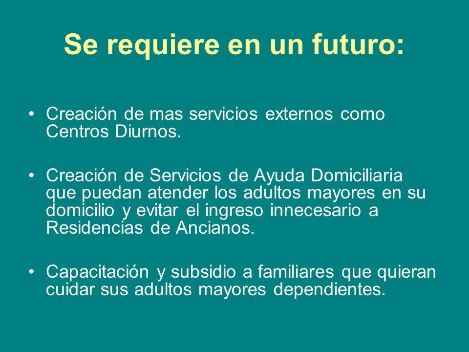 Se requiere en un futuro: