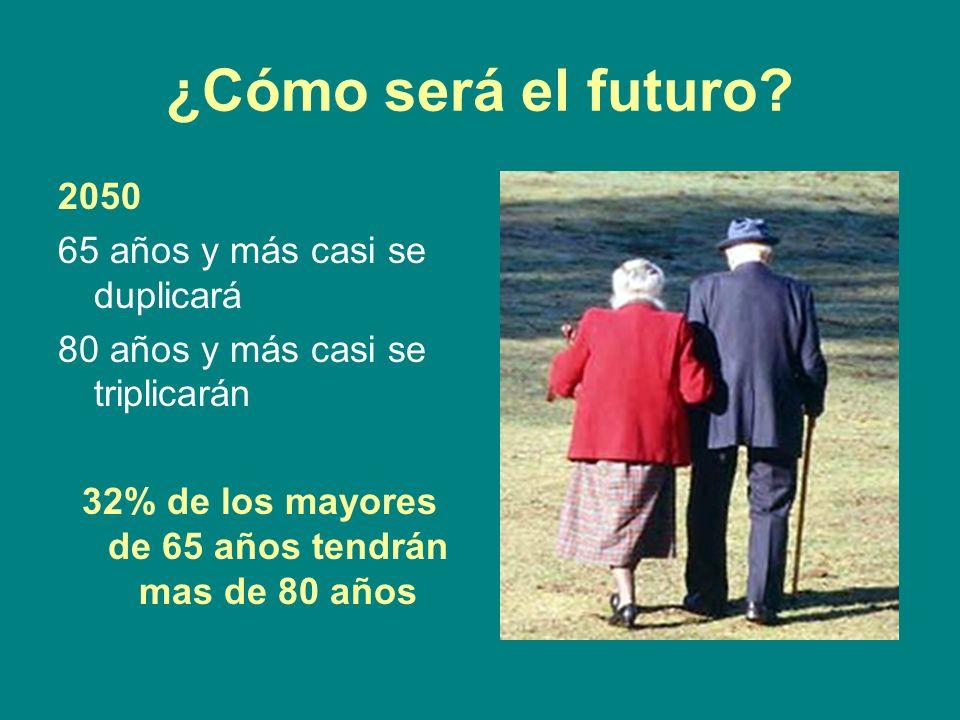 32% de los mayores de 65 años tendrán mas de 80 años