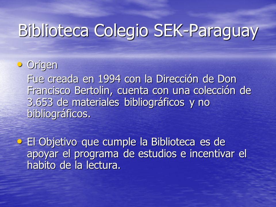 Biblioteca Colegio SEK-Paraguay
