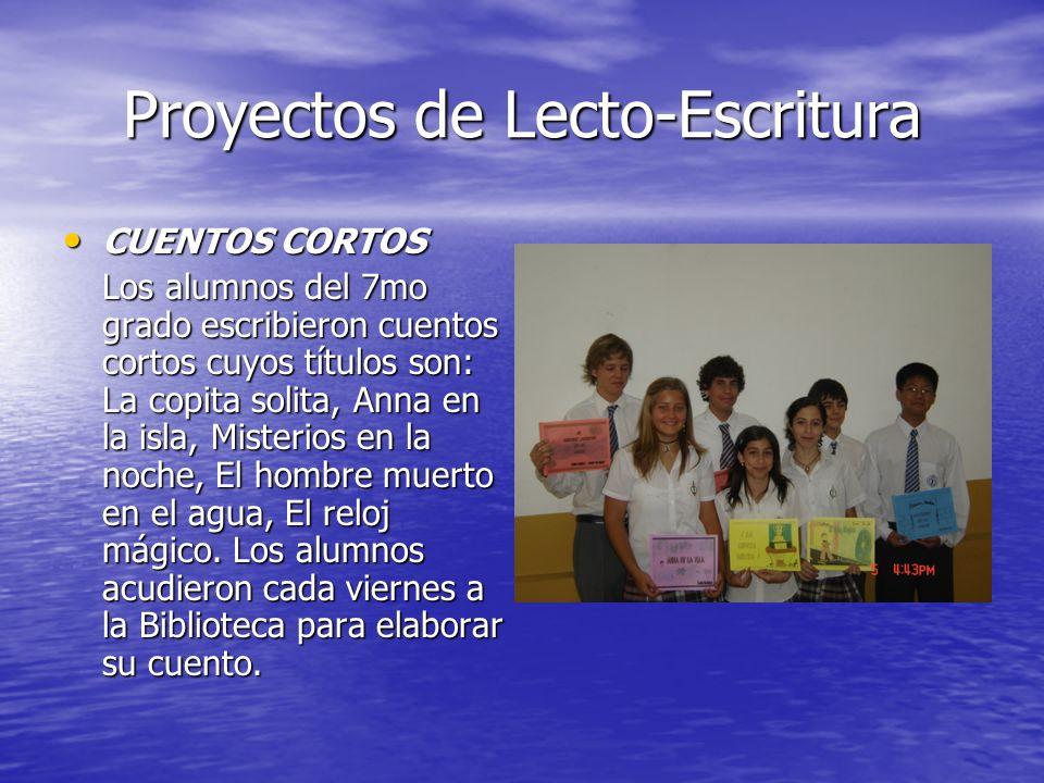 Proyectos de Lecto-Escritura