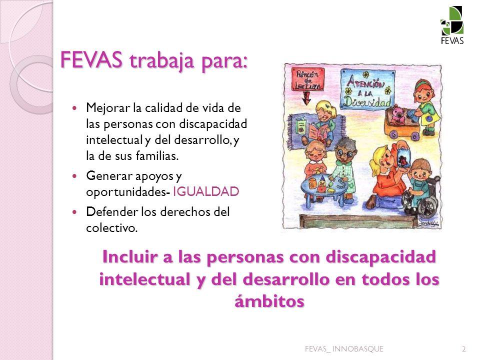FEVAS trabaja para: Mejorar la calidad de vida de las personas con discapacidad intelectual y del desarrollo, y la de sus familias.