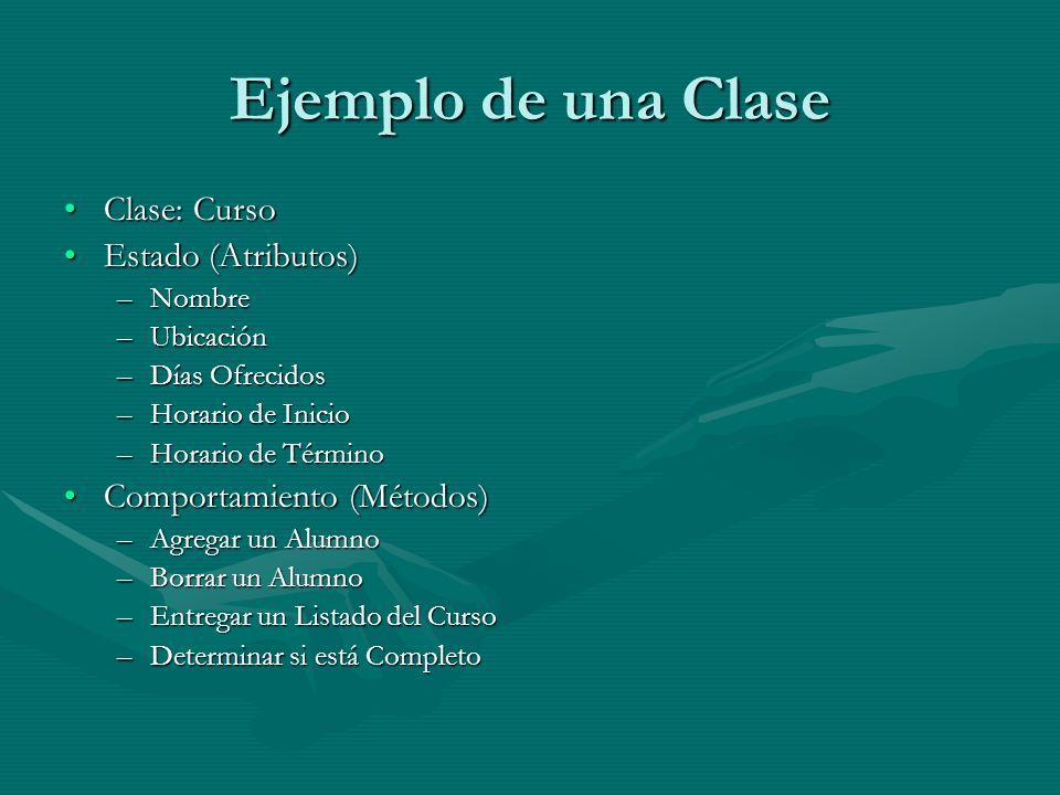 Ejemplo de una Clase Clase: Curso Estado (Atributos)