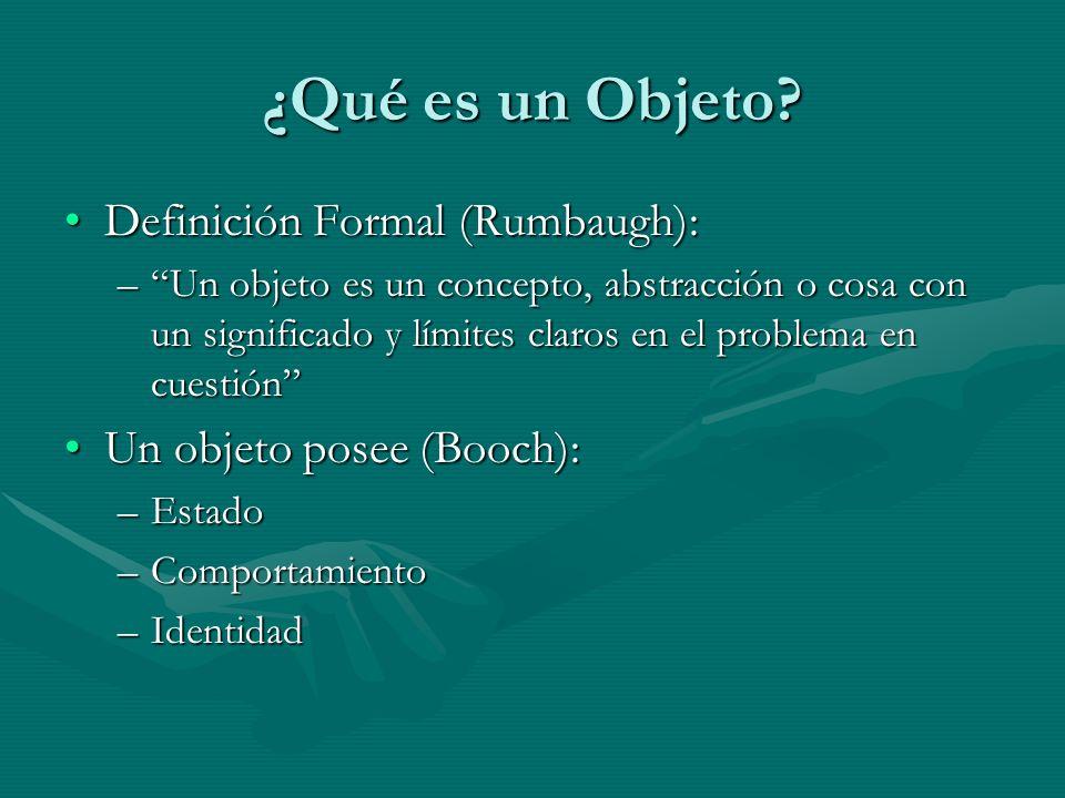 ¿Qué es un Objeto Definición Formal (Rumbaugh):