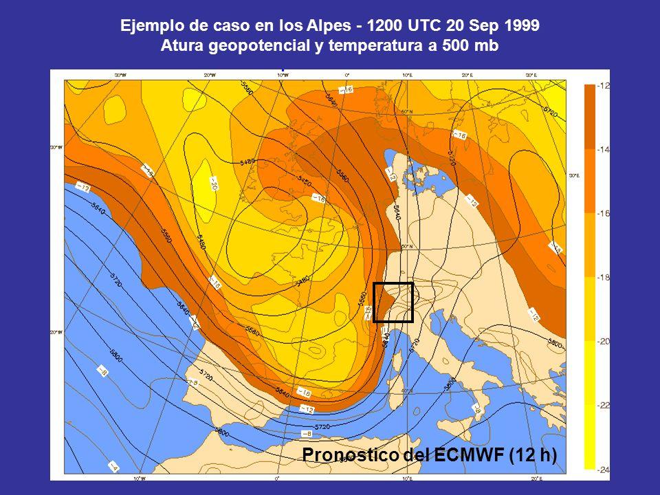 Pronostico del ECMWF (12 h)