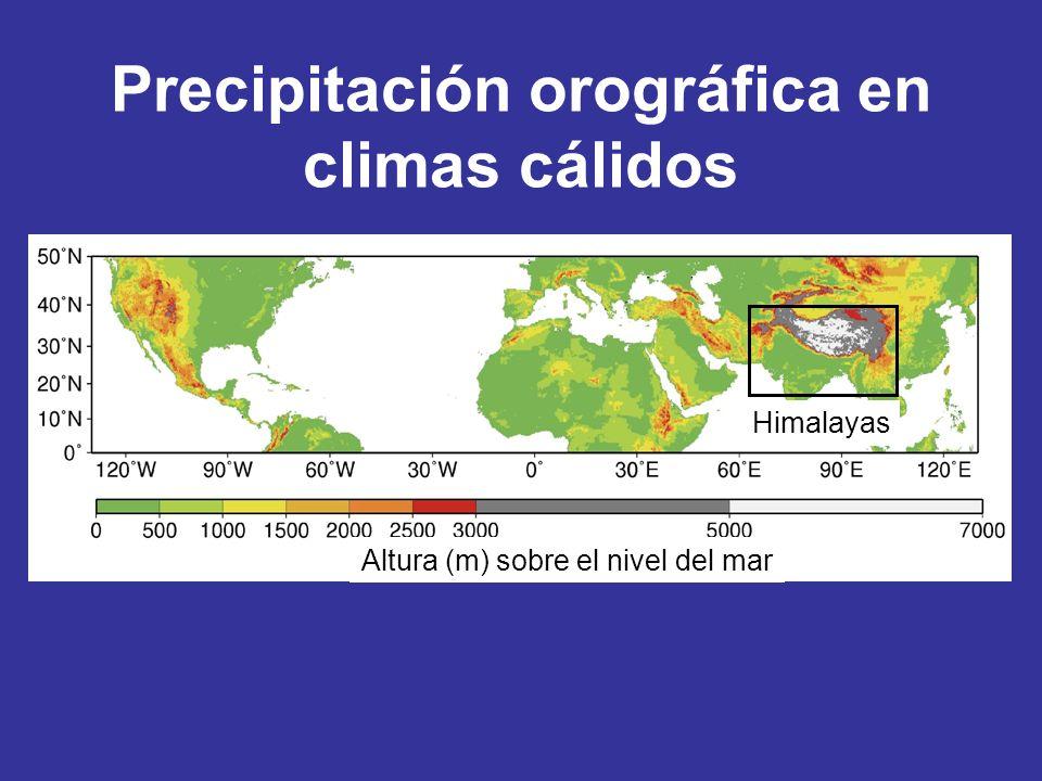 Precipitación orográfica en climas cálidos