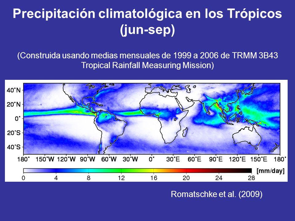 Precipitación climatológica en los Trópicos