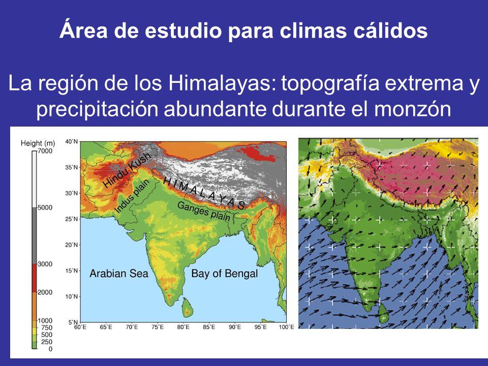 Área de estudio para climas cálidos