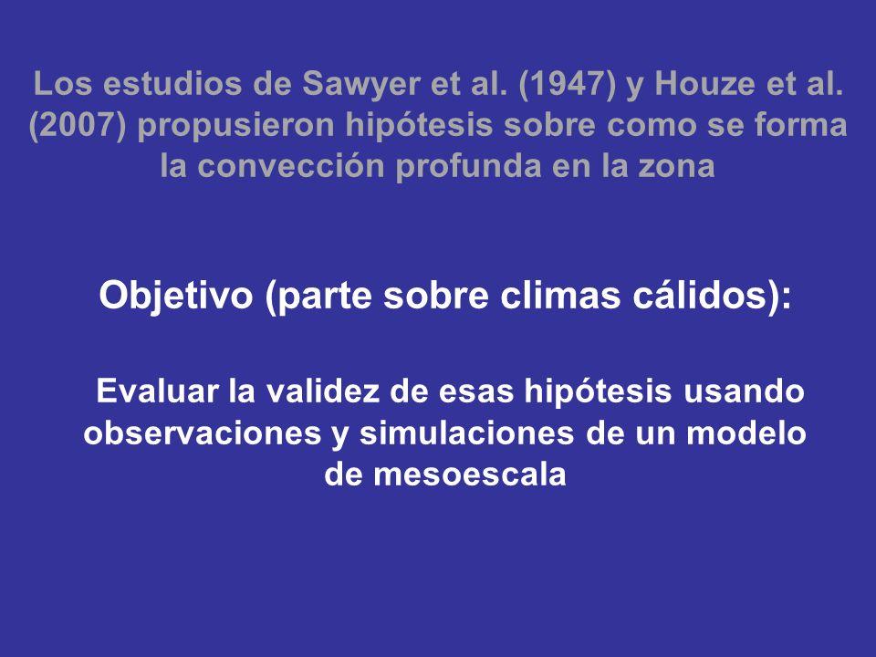 Los estudios de Sawyer et al. (1947) y Houze et al