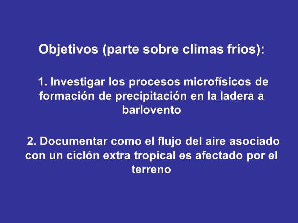 Objetivos (parte sobre climas fríos): 1
