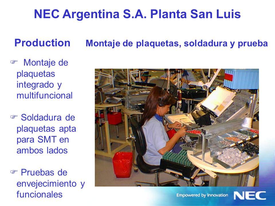 NEC Argentina S.A. Planta San Luis