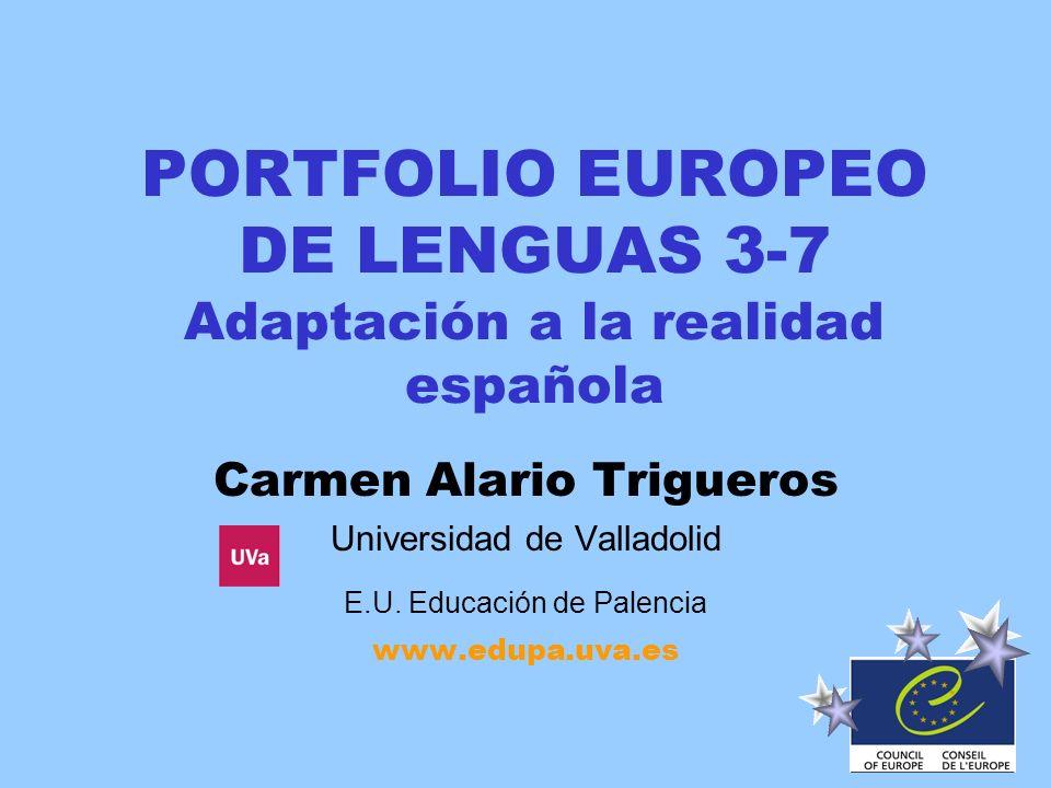 PORTFOLIO EUROPEO DE LENGUAS 3-7 Adaptación a la realidad española