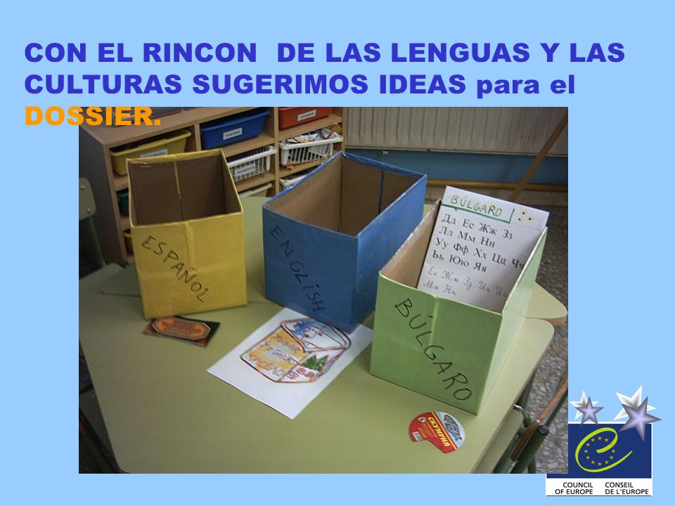 CON EL RINCON DE LAS LENGUAS Y LAS CULTURAS SUGERIMOS IDEAS para el DOSSIER.