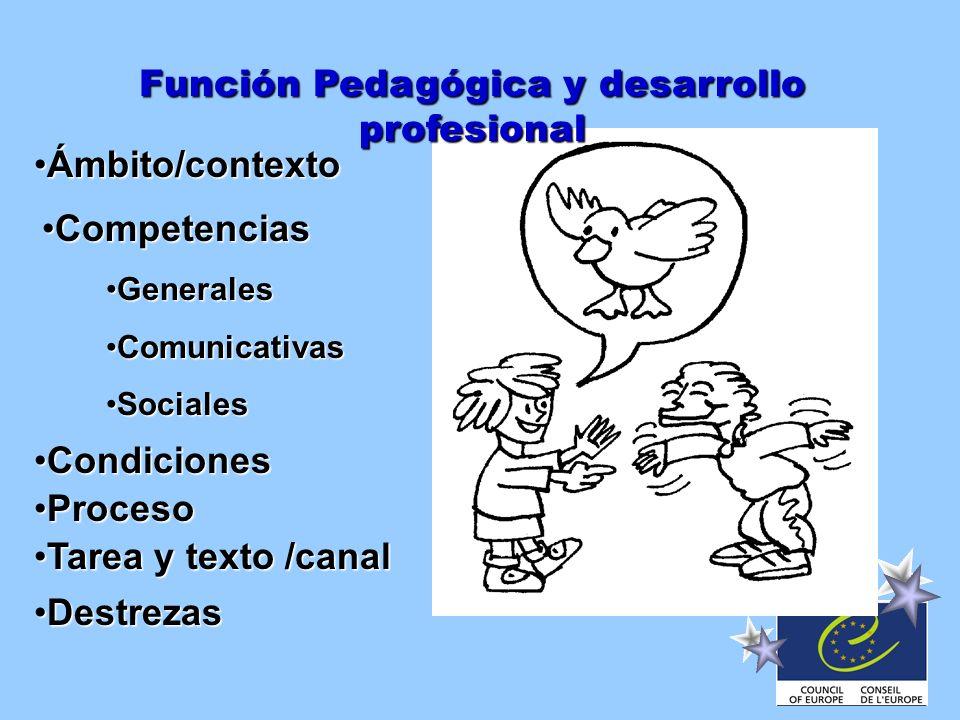 Función Pedagógica y desarrollo profesional