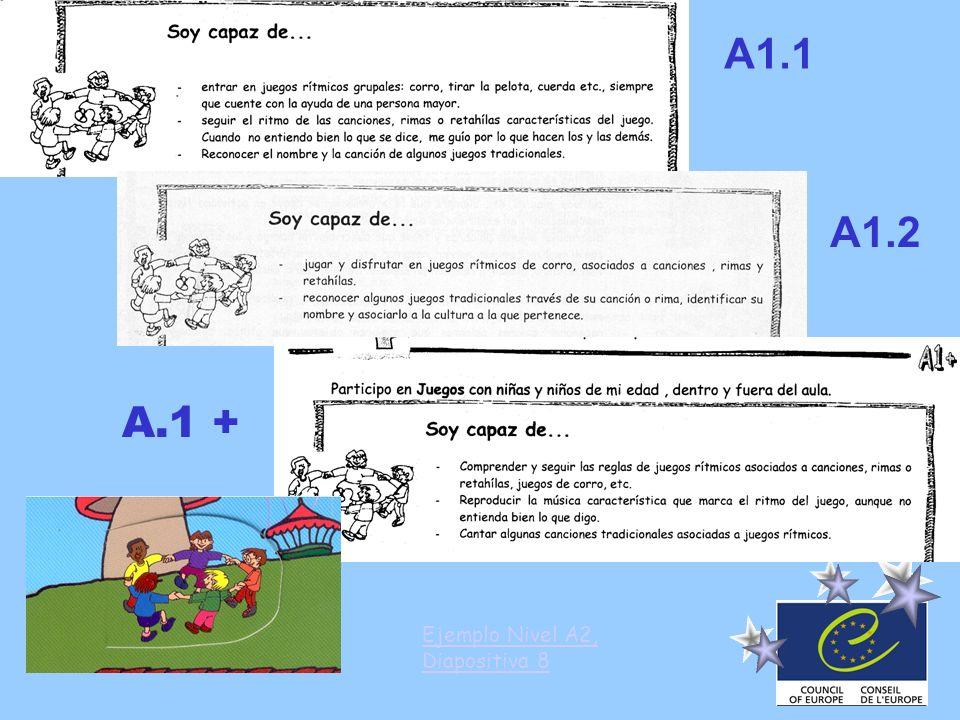 A1.1 A1.2 A.1 + Ejemplo Nivel A2, Diapositiva 8