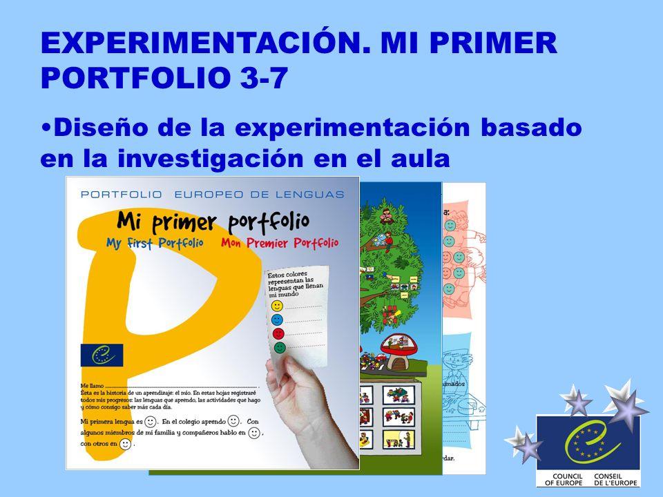 EXPERIMENTACIÓN. MI PRIMER PORTFOLIO 3-7