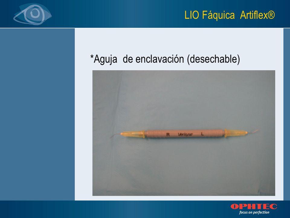 LIO Fáquica Artiflex® *Aguja de enclavación (desechable)