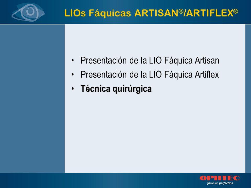 LIOs Fáquicas ARTISAN®/ARTIFLEX®