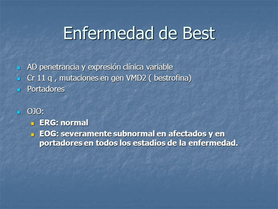 Enfermedad de Best AD penetrancia y expresión clínica variable