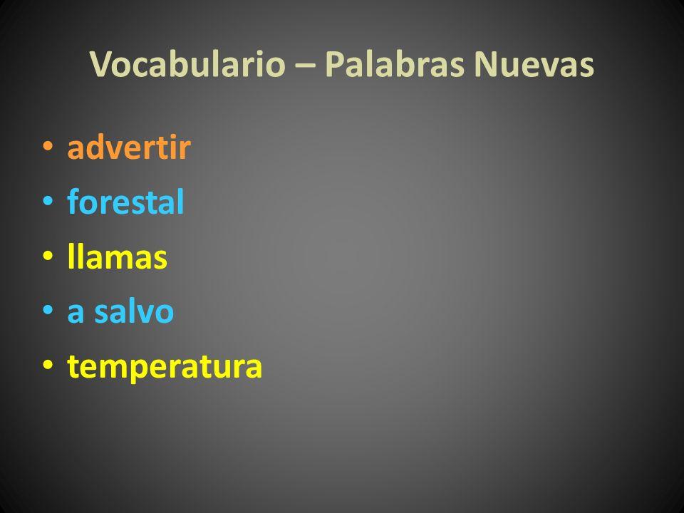 Vocabulario – Palabras Nuevas