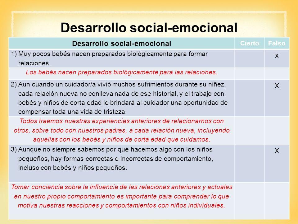Desarrollo social-emocional