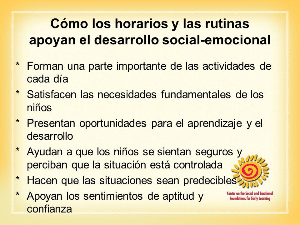 Cómo los horarios y las rutinas apoyan el desarrollo social-emocional