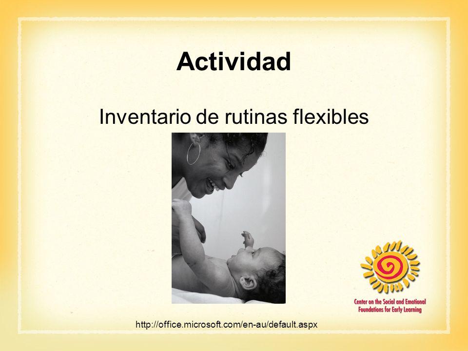 Inventario de rutinas flexibles