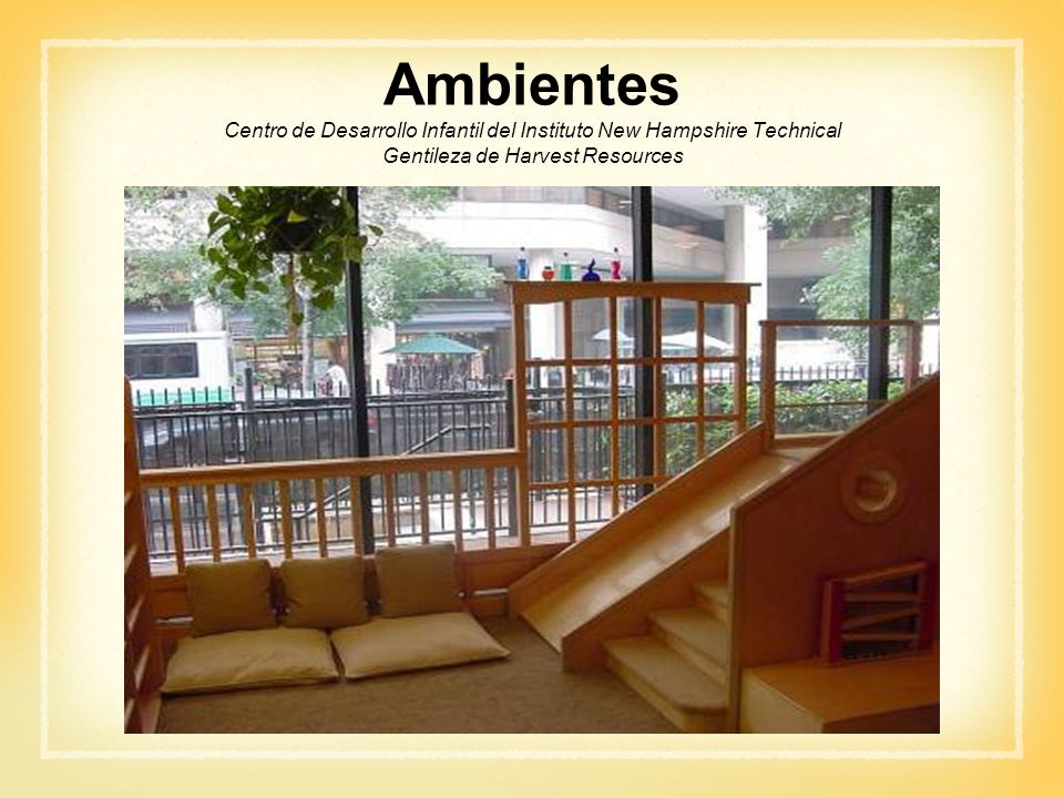 Ambientes Centro de Desarrollo Infantil del Instituto New Hampshire Technical Gentileza de Harvest Resources