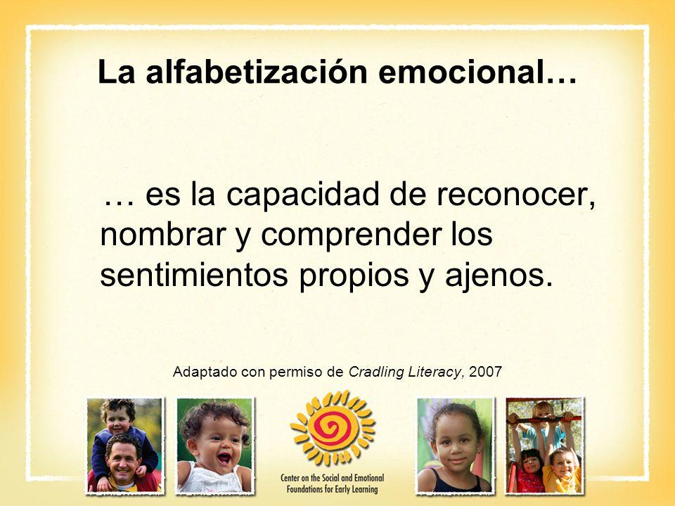 La alfabetización emocional…