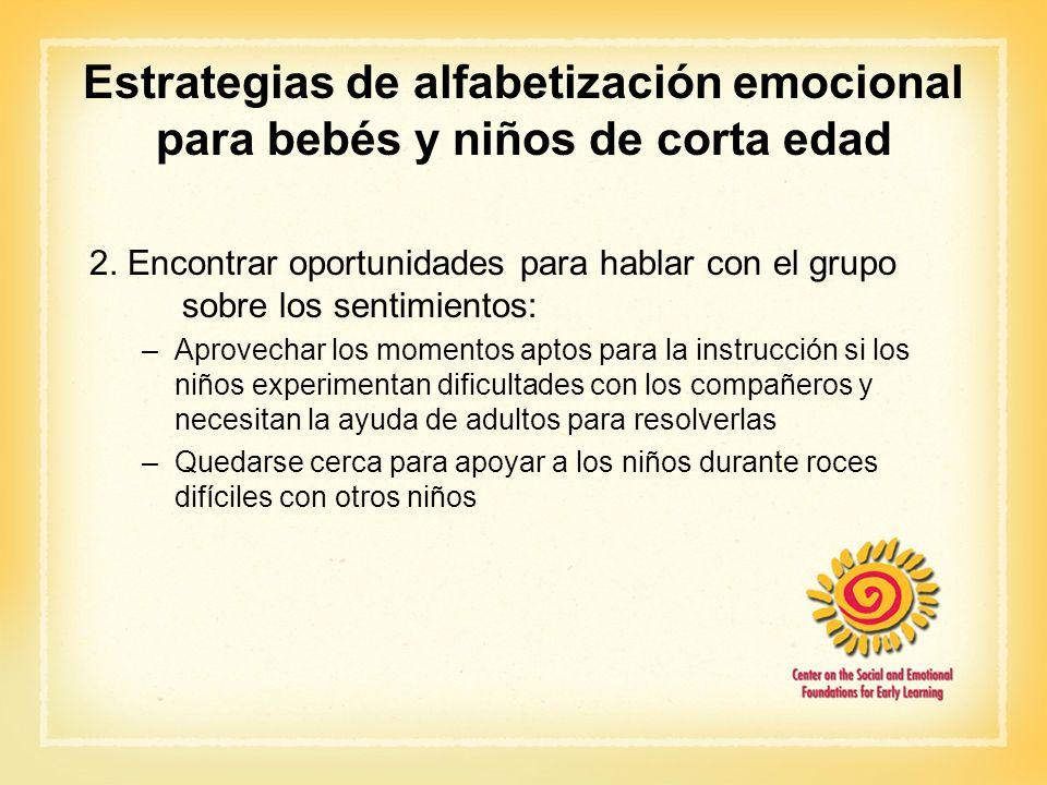 Estrategias de alfabetización emocional para bebés y niños de corta edad