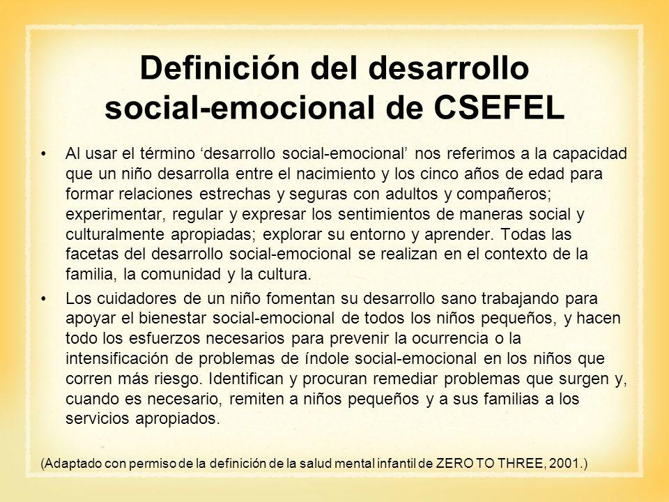 Definición del desarrollo social-emocional de CSEFEL