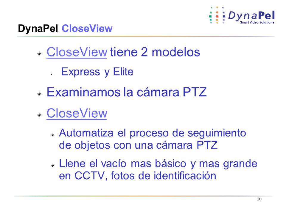 CloseView tiene 2 modelos Examinamos la cámara PTZ CloseView