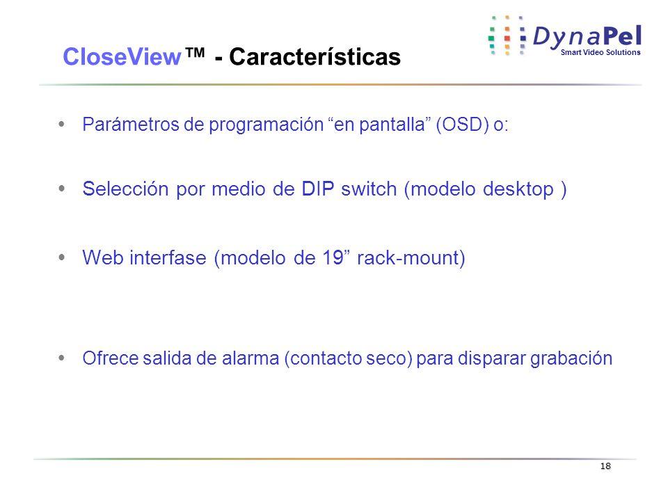 CloseView™ - Características