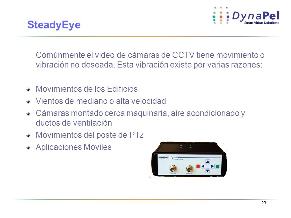 Dynapel Inc. 3/24/2017. SteadyEye.