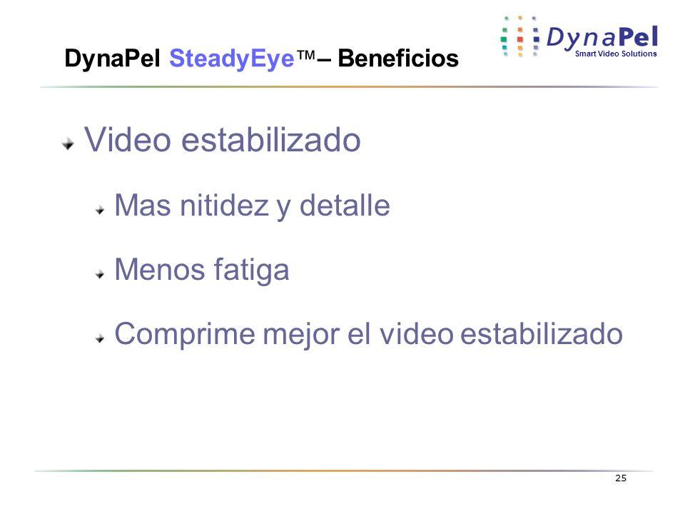 DynaPel SteadyEye™– Beneficios