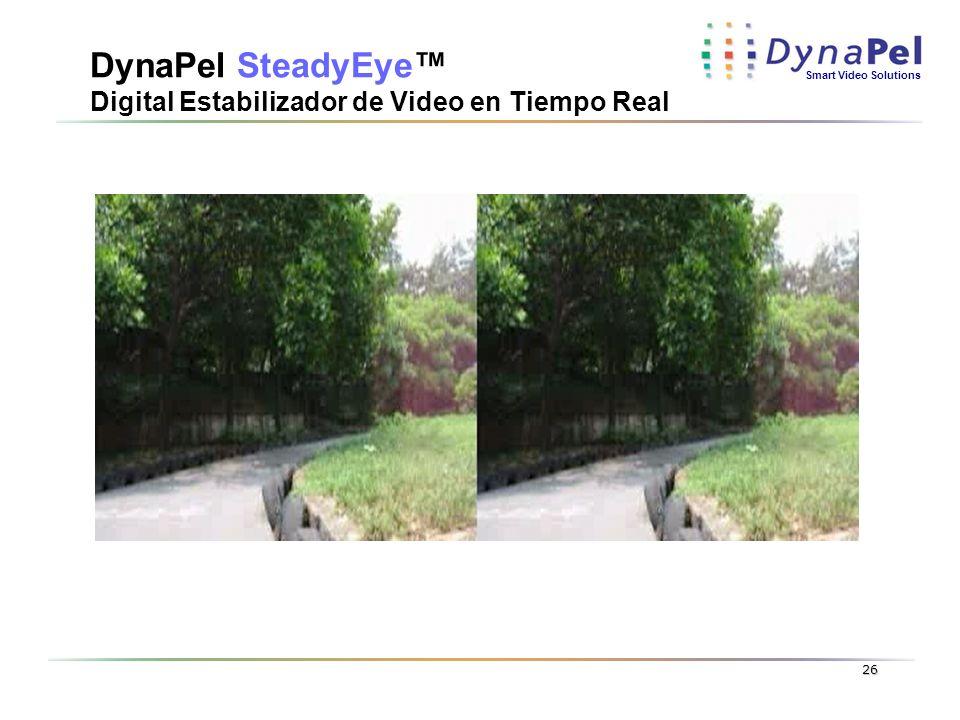 DynaPel SteadyEye™ Digital Estabilizador de Video en Tiempo Real