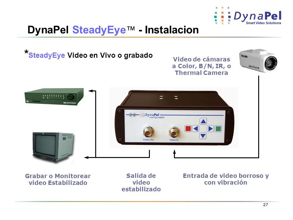 DynaPel SteadyEye™ - Instalacion