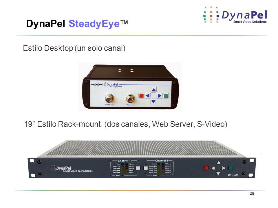 DynaPel SteadyEye™ Estilo Desktop (un solo canal)