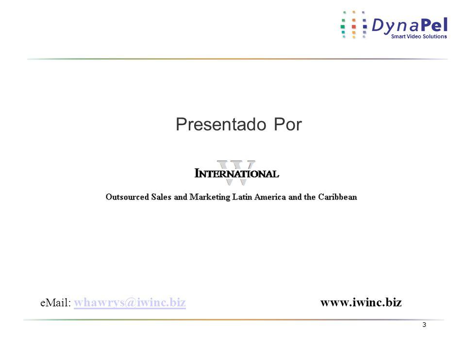 Presentado Por eMail: whawrys@iwinc.biz www.iwinc.biz
