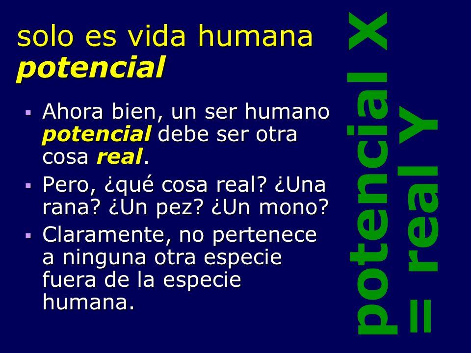 solo es vida humana potencial