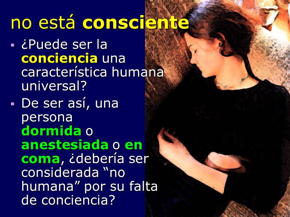 no está consciente ¿Puede ser la conciencia una característica humana universal