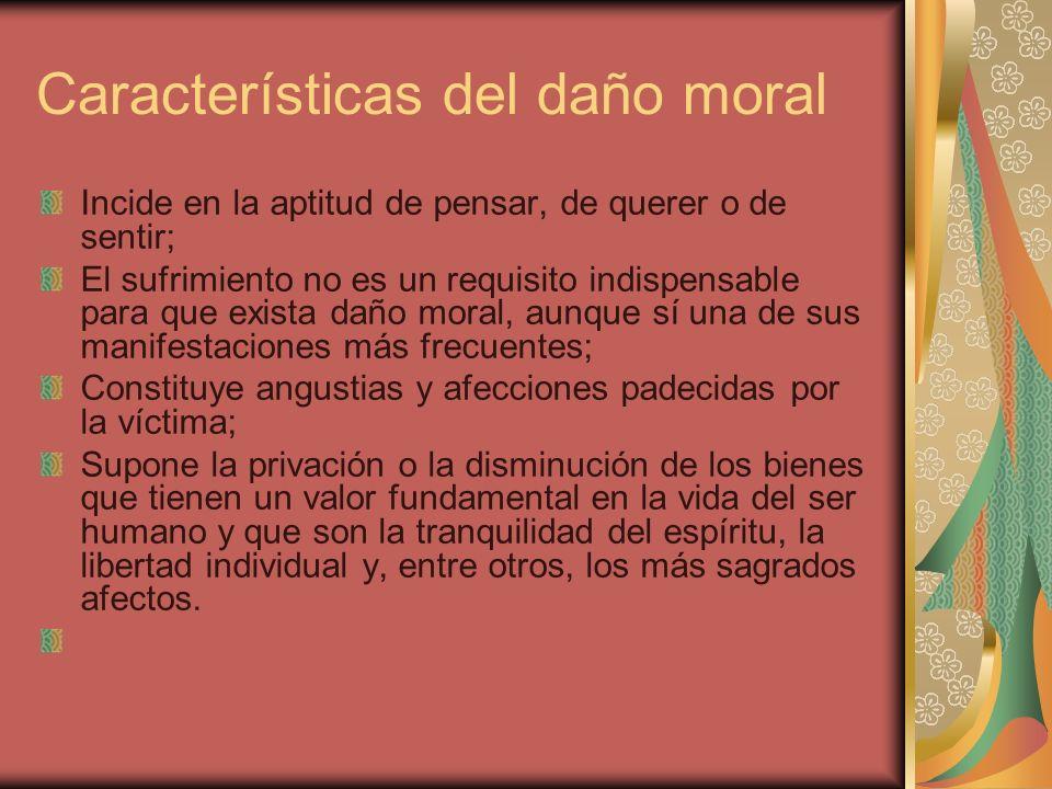 Características del daño moral