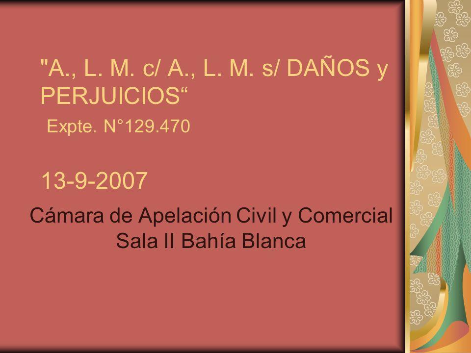 Cámara de Apelación Civil y Comercial Sala II Bahía Blanca