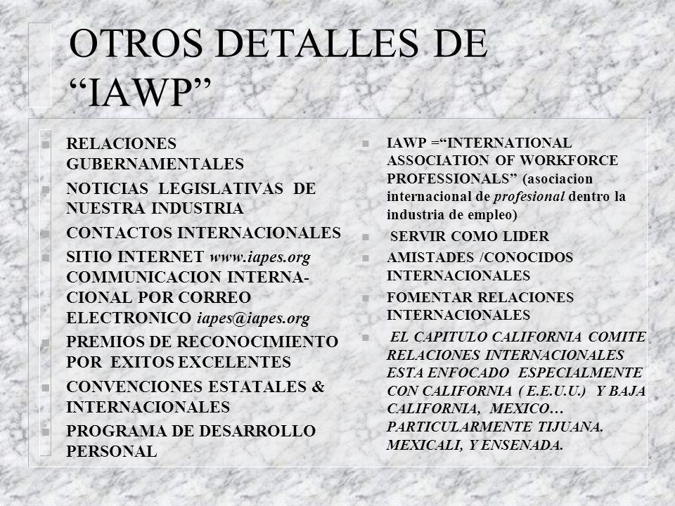 OTROS DETALLES DE IAWP